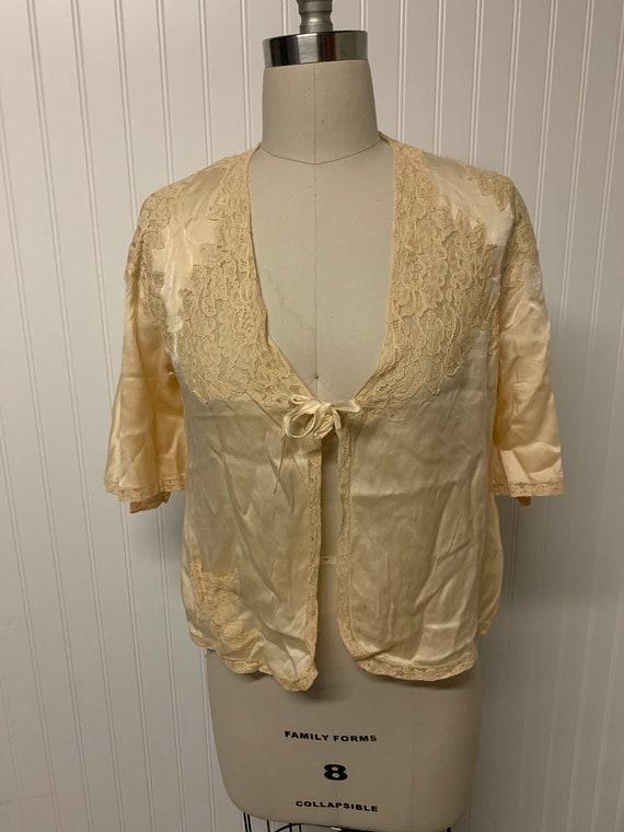 1930's Bias Cut Bed Jacket