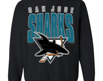 Vintage San Jose Sharks 1990's NHL Crewneck Sweatshirt Sweater