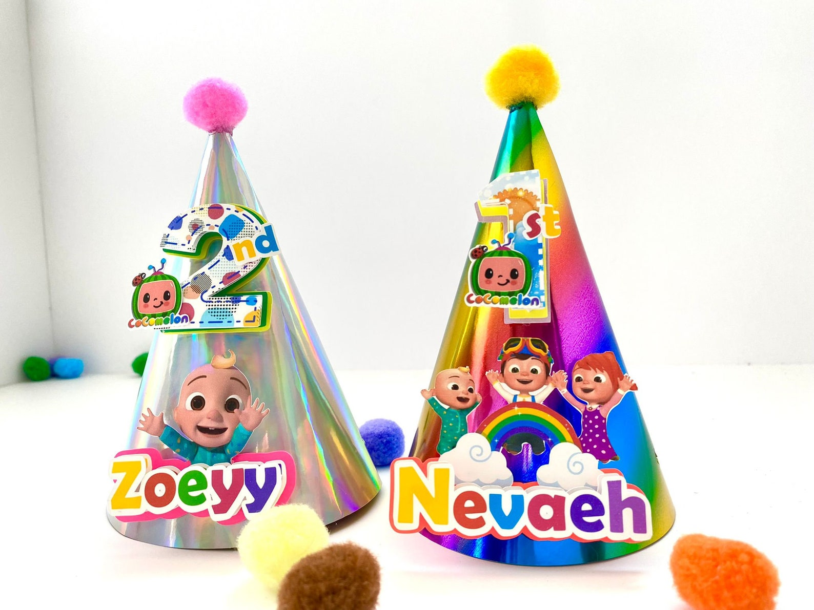 Cocomelon Party Hats