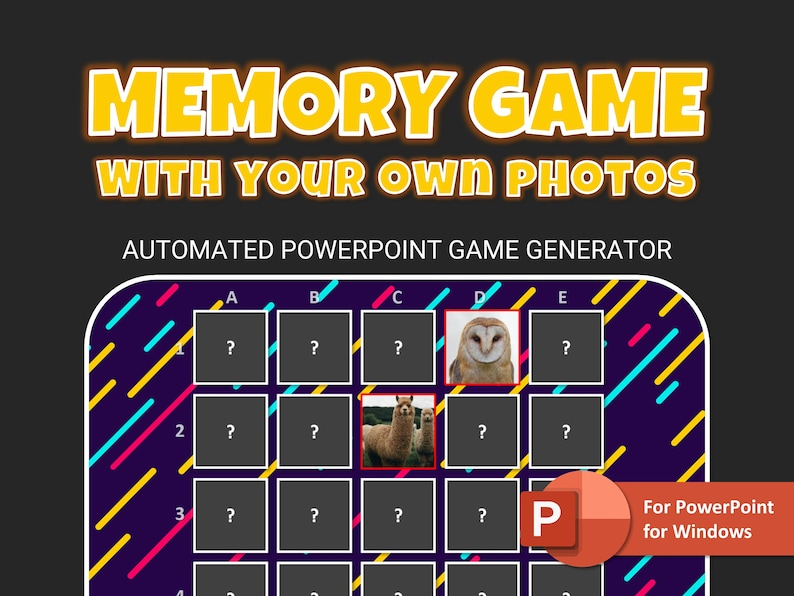 Memory Game in PowerPoint With Your Photos  Automated image 1
