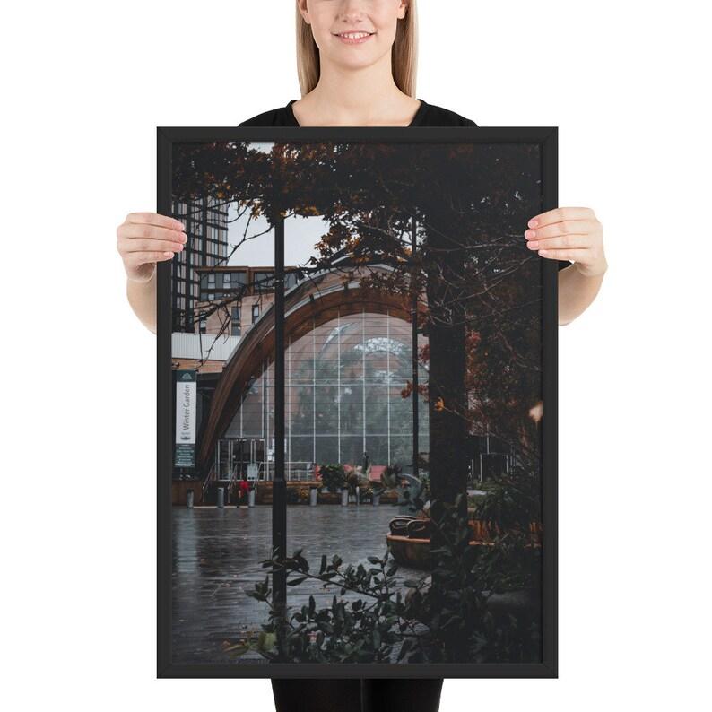 Winter Gardens Sheffield Framed matte paper poster