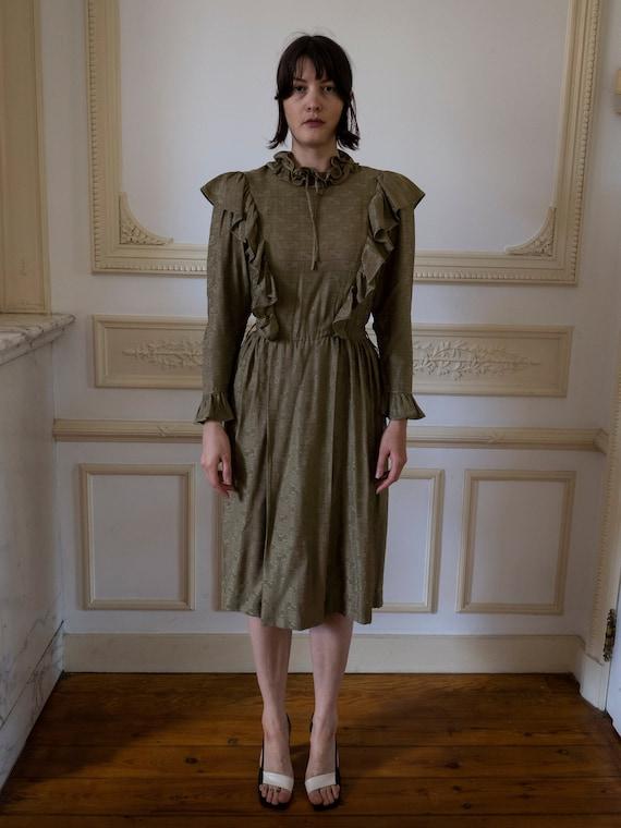 1970s Ruffle Dress