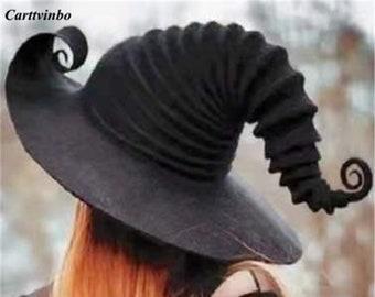 Witch Hat, Big Brim Fisherman Hat, Halloween Black Spell Witch Hat, UV Protection Hat, Women's Fashion Beach Sun Hat, Modern Witch Hat