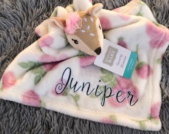 Paisley Lovey Blanket-Handmade Baby Gift-Mint Green /& Gray-Security Blanket-Monogrammed Lovies