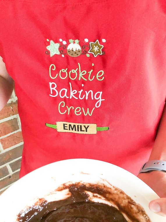 I BAKED saying Christmas Holidays Hostess Gift It/'s a miracle Embroidered Cookie Party Aprons; Personalize