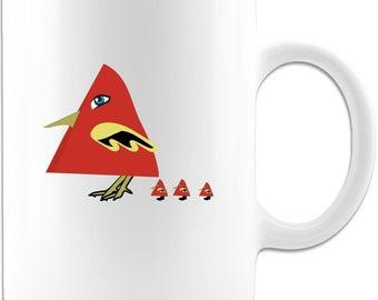 Funny Coffee Mug - Triangle Birds