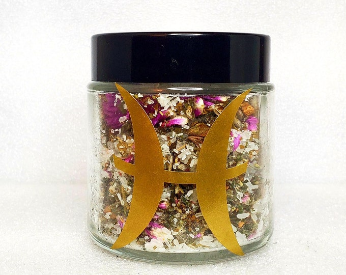 Featured listing image: Pisces Tea Bath 100% Organic Vegan Luxury Herbal Zodiac Blend