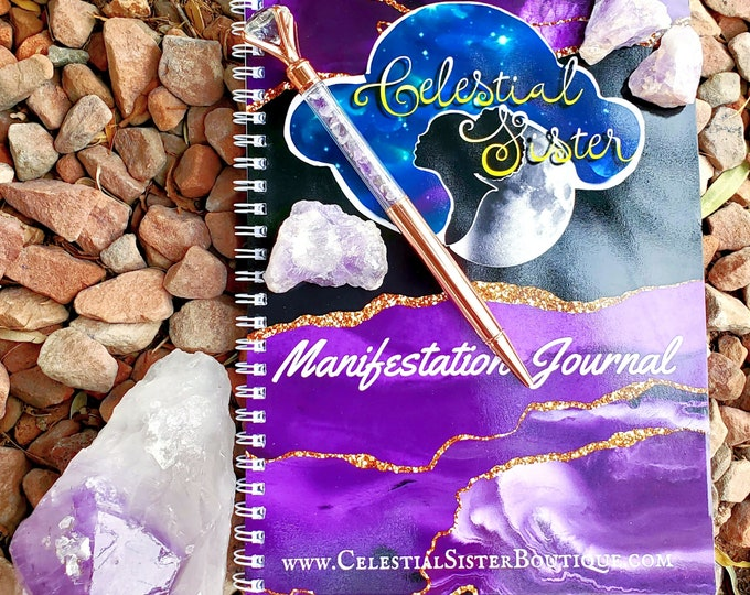 Featured listing image: Manifestation Journal & Crystal Pen Kit