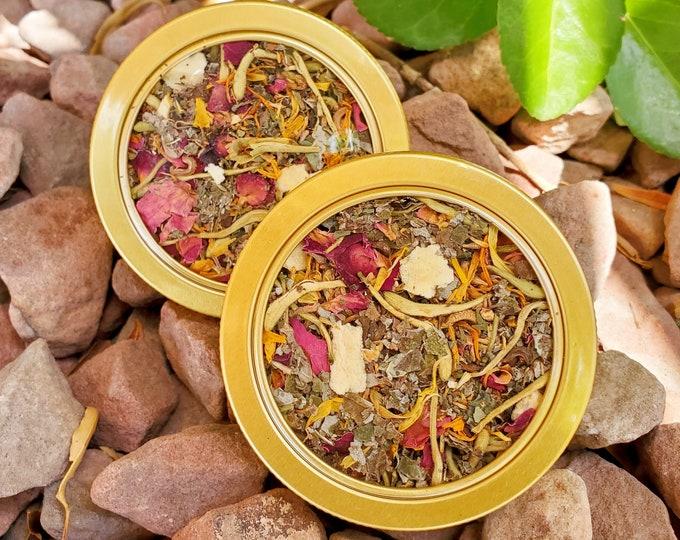 Featured listing image: Southern Summer Organic Herbal Honeysuckle Tea 100% Vegan Fruit & Floral Tea Blends (Caffeine-Free)