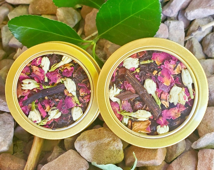 Featured listing image: Earl Rose Organic Black Earl Grey Tea 100% Vegan Herbal Caffeinated Morning Tea Blend