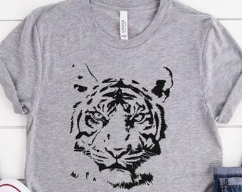 Graphic Tees Animal Lover. Trendy tiger shirt Vintage tiger Tshirt Animal Face Shirts Tiger Shirt Tiger Face Animal Prints