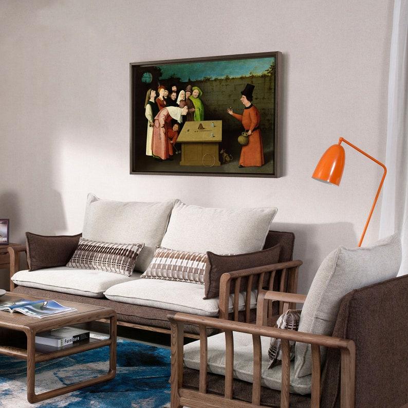 Hieronymus Bosch,The Conjurer,canvas print,canvas art,canvas wall art,large wall art,framed wall art,p1117