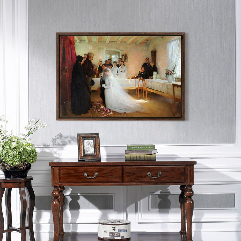 Pascal Dagnan-Bouveret,The Blessing of the Young Couple Before Marriage,canvas print,canvas art,canvas wall art,large wall art,framed,p2033