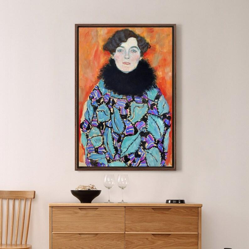 Gustav Klimt,Johanna Staude,Woman portrait,canvas print,canvas art,canvas wall art,large wall art,framed wall art,p2230