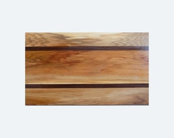 Hickory  and black walnut cutting board