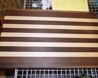 Black Walnut & Maple cutting board