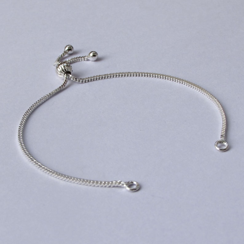 1.30 Square Snake Bracelet Making Chain Clasp in different Length