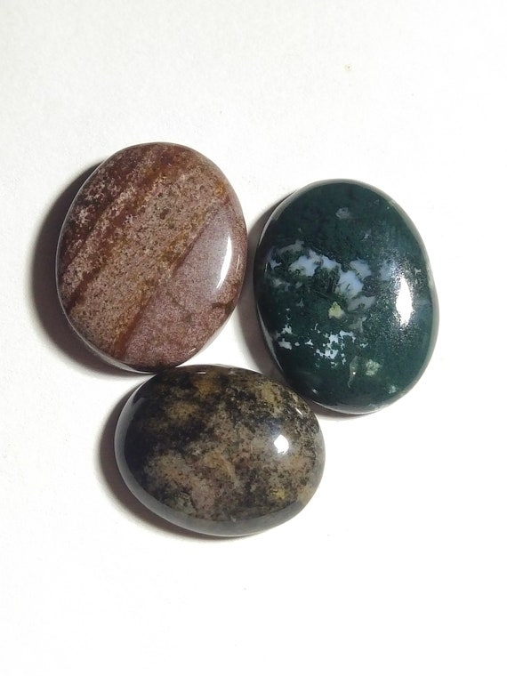Natural Maligano Jasper Cabochon Loose Gemstone Shape Oval  Maligano Jasper Beautiful big Stone For Jewelry Pendant Size 49x31x5mm 60 Cts