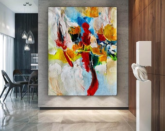 Large Abstract Painting on Canvas, Large canvas Painting, huge canvas painting, canvas custom art, oil paintings, handmade painting SN0010