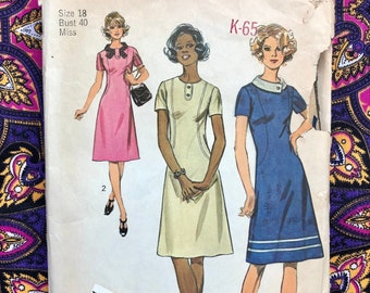 Antique 1900s1910s Women/'s House Dress Sewing Pattern Ideal Pattern 16 357 Montgomery Ward Bust 40 in Complete