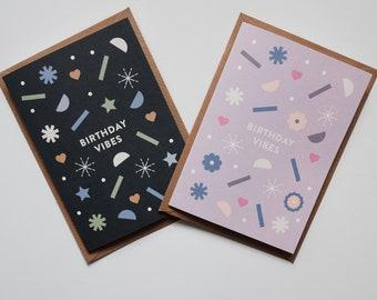 Birthday Vibes - Happy Birthday Card
