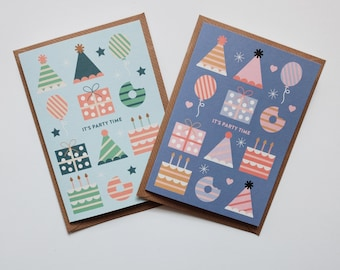 Kids Birthday Card - Birthday Cards for Children - Party Time Card