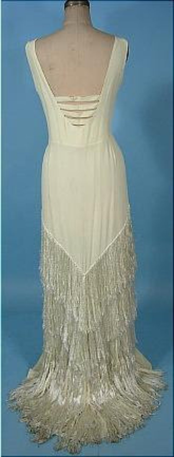 1930s Ivory Crepe Gown