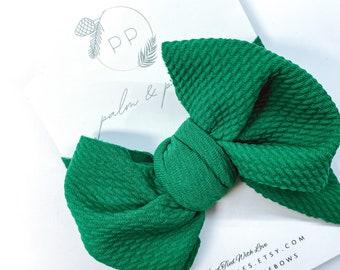 Emerald Headband Green Flower Headband Green Hair Bow Boutique Bow Baby Hair Bow Girls Hair Bow Kelly Green Bow Baby Headband