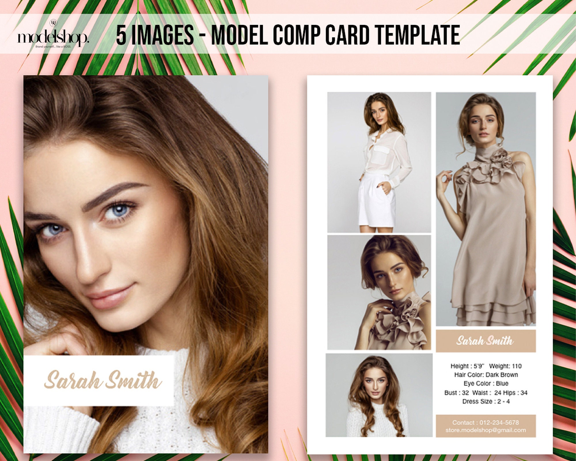 Modeling Comp Card  21 image Model Comp Card Template  Actor Comp Card   Instant Download  PDF, Keynote, Powerpoint,EASY EDIT With Regard To Download Comp Card Template
