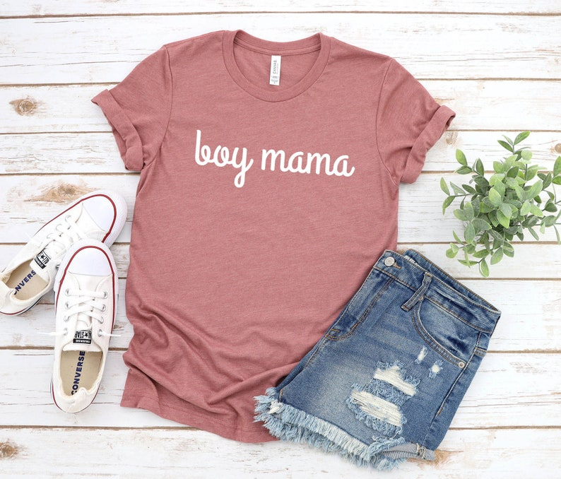 Expecting Mom Boy Mama T-Shirt Gender Reveal Baby Announcement Mother/'s Day Gift Pregnancy Shirt Mom Life