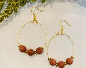 Mini Shimmer Rust Earrings