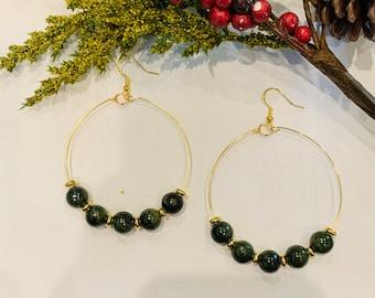 Holiday Green Earrings