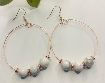 Marble Beaded Earrings
