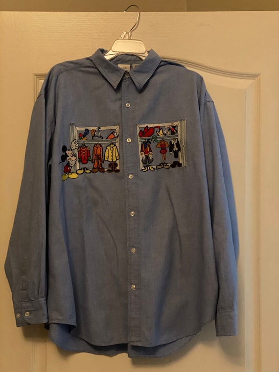 Vintage Disney embroidered Chambray shirt.