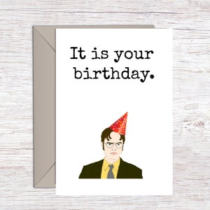 Dwight Schrute Printable birthday banner|party hats Printable party set printable birthday card US office card Printable birthday card