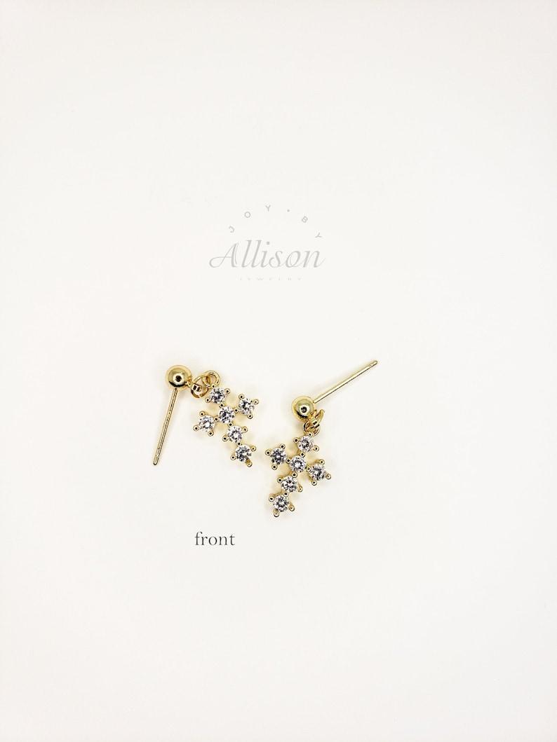 Cubic Zirconia Cross Pendant Earrings Charm Earrings for Women