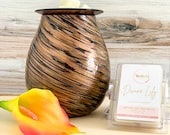Decorative Art Glass Wax Warmer Soy Wax Melts Gift Bundle Your Choice of Scent Home Décor Gift Set Home Fragrance