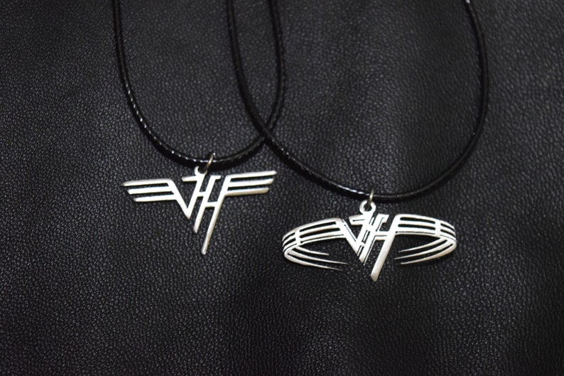 Van Halen pendant necklace stainless steel logo symbol pin image 0