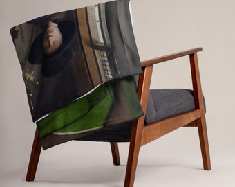 Arnolfini Portrait Jan van Eyck - Throw Blanket
