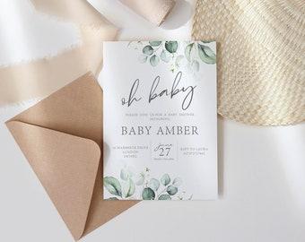 Baby Shower Rainbow Invite. Gender Neutral Invite for Baby Shower. Personalised Baby Shower Invite. Baby Shower Party Invitation.