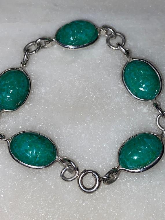 Egyptian Revival Beatle Bracelet - image 2