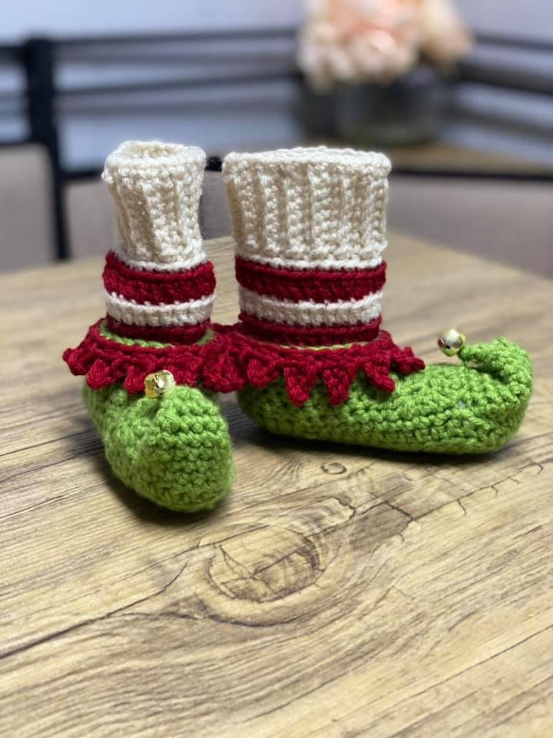 adult sizes Crochet Elf Shoes