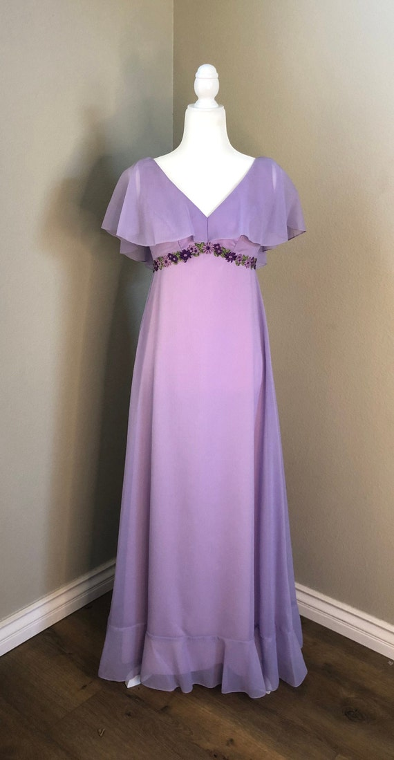 Priscilla of Boston Lilac Dress