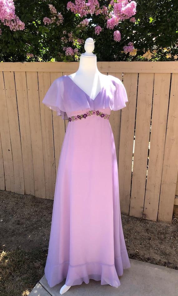Priscilla of Boston Lilac Dress - image 3