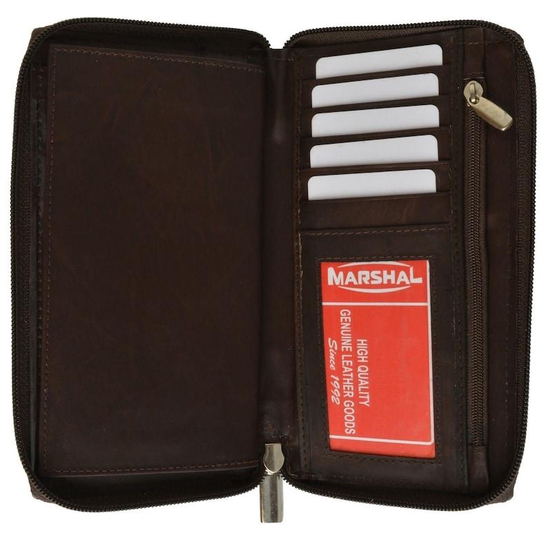 RFID Blocking Genuine Leather Standard Checkbook Cover Wallet Men Women Choose Your Color