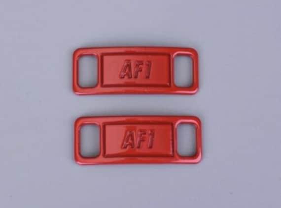 Red AF1 LACE LOCKS Metal Custom AF1 Tags Lock Air Force ...