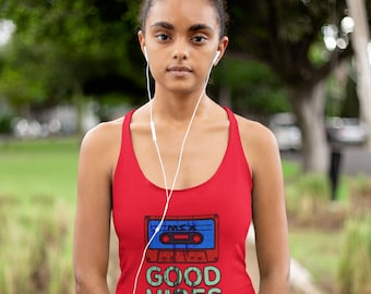 Good Vibes Distressed Grunge Style 80s 90s Women's Ideal Racerback Tank