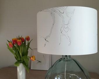 Hand marbled suminagashi lampshade (40cm diameter)