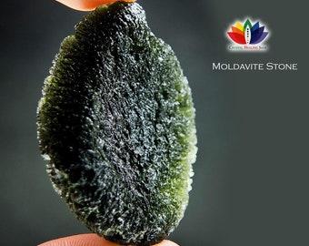 MOLDAVITE Stone Genuine Moldavite from Czech Republic Transformation Stone Healing Moldavite Stone   MOLDAVITE   Green Moldavite