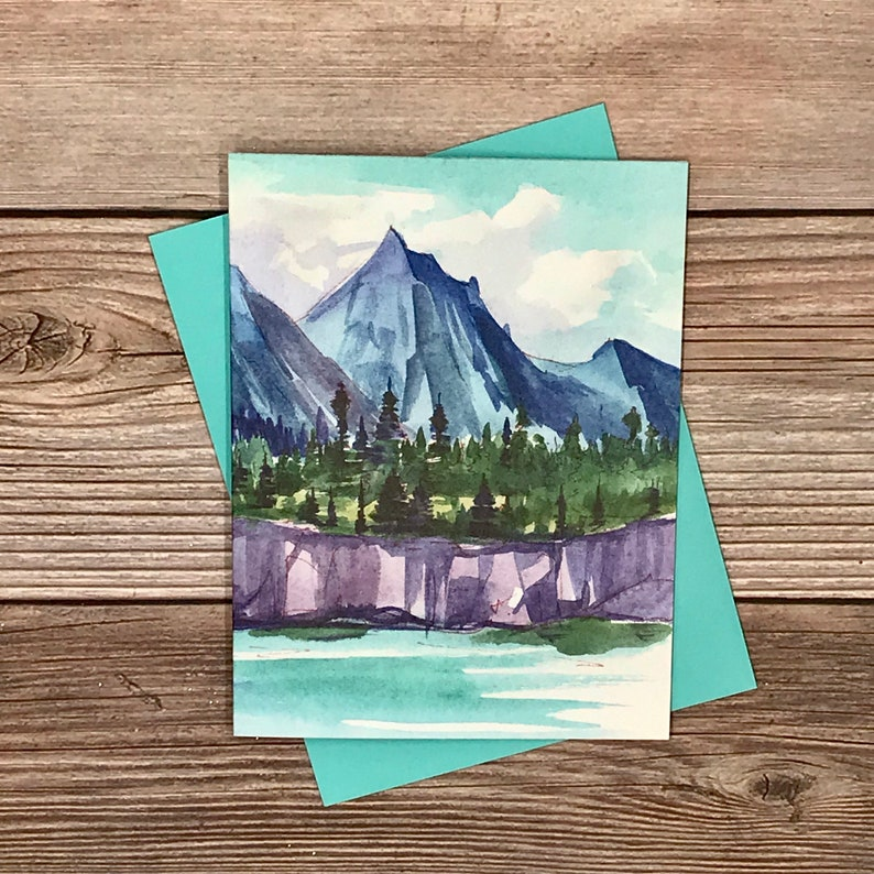 birthday card -12 card gift set high-end greeting #1 blue mountain only thank you Watercolor Mountain Landscapes all-occasion cards